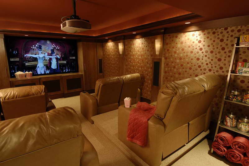 Home cinema ses yal t m evlerde akustik oda - Stunning images of basement home theater decoration design ideas ...